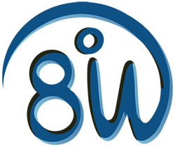 8 Degrees West Logo